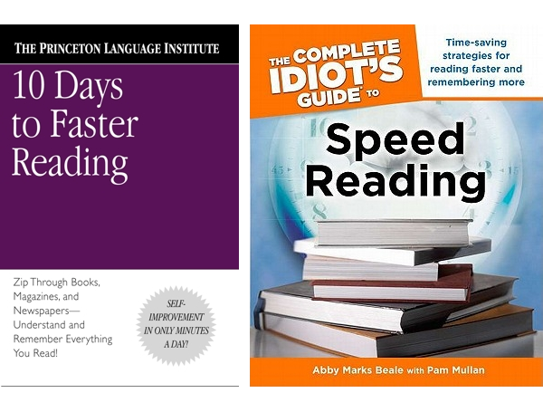 10 Days to Faster Reading and Idiots Guide to Speed Reading